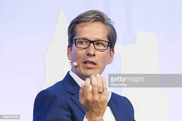 Frank Strauss chief executive officer of Deutsche Postbank AG speaks during the Banks in Transition conference in Frankfurt Germany on Thursday Sept...