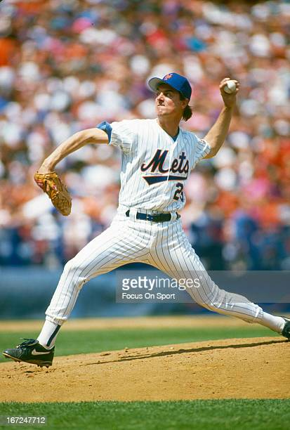 Frank Tanana of the New York Mets pitches during an Major League Baseball game circa 1993 at Shea Stadium in the Queens borough of New York City...