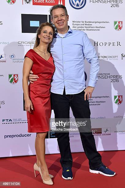 Frank Thelen and his wife attend the German television award by the Deutsche Akademie fuer Fernsehen at Museum Ludwig on November 28 2015 in Cologne...
