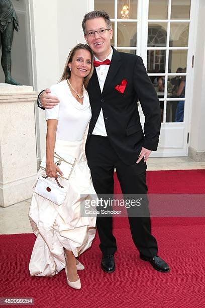 Frank Thelen and his wife during the 'Die Goldene Deutschland' Gala on July 26 2015 at Cuvillies Theater in Munich Germany