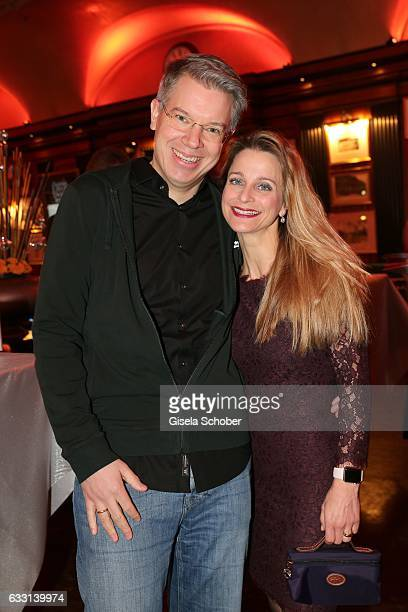 Frank Thelen and his wife Nathalie ThelenSuttler during the Lambertz Monday Night 2017 at Alter Wartesaal on January 30 2017 in Cologne Germany