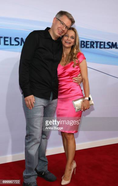 Frank Thelen and Nathalie ThelenSattler attend the Bertelsmann Summer Party at Bertelsmann Repraesentanz on June 22 2017 in Berlin Germany