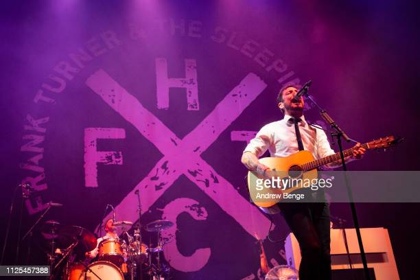 Frank Turner of Frank Turner & The Sleeping Souls performs live at First Direct Arena on January 27, 2019 in Leeds, England.