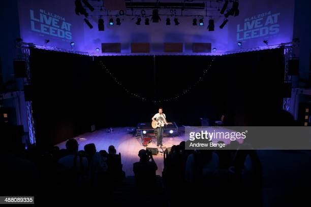Frank Turner performs as the day's special guest on stage at Leeds College Of Music during Live At Leeds music festival on May 3 2014 in Leeds United...