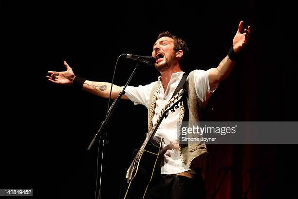 Frank Turner performs live on stage at Wembley Arena on April 13 2012 in London United Kingdom