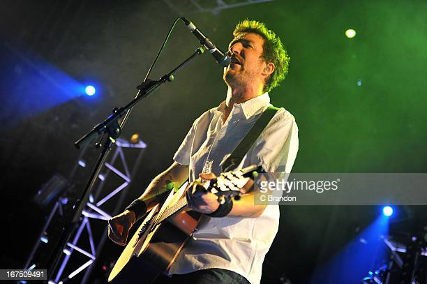 Frank Turner performs on stage at The Forum on April 25 2013 in London England