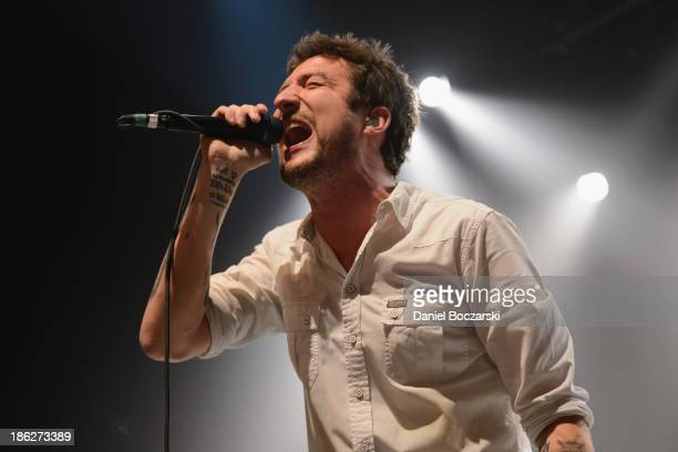 Frank Turner performs on stage at Vic Theatre on October 29 2013 in Chicago Illinois