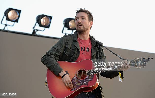Frank Turner performs onstage during the Invictus Games Closing Concert at the Queen Elizabeth Olympic Park on September 14 2014 in London England