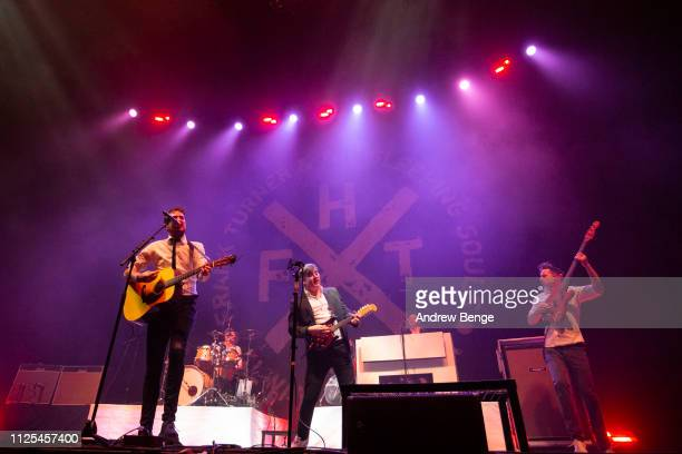 Frank Turner & The Sleeping Souls perform live at First Direct Arena on January 27, 2019 in Leeds, England.