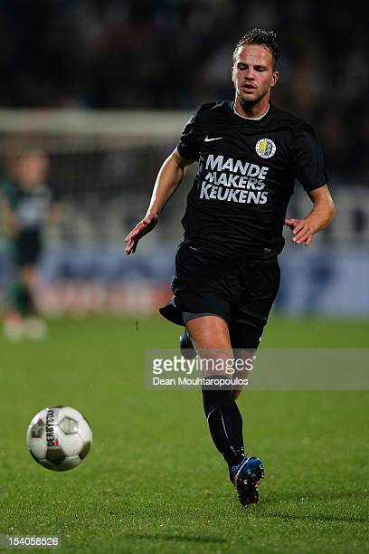 Frank van Mosselveld of RKC in action during the Eredivisie match between Willem II Tilburg and RKC Waalwijk at the Koning Willem II Stadion on...
