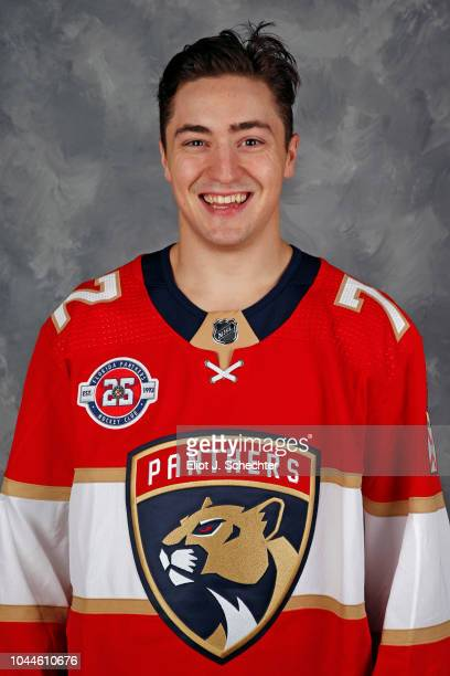 Frank Vatrano of the Florida Panthers poses for his official headshot for the 20182019 season on September 13 2018 at the BBT Center in Sunrise...