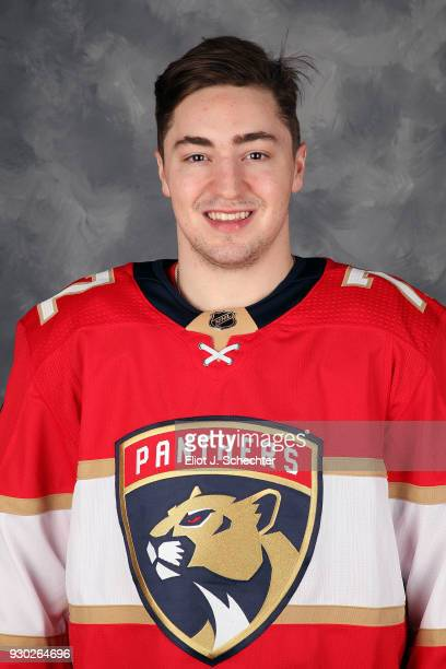 Frank Vatrano of the Florida Panthers posses for his official 20172018 headshot at the BBT Center on March 8 2018 in Sunrise Florida
