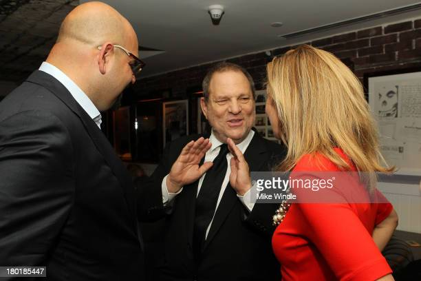 Frank Vento Harvey Weinstein and Jacqueline Epifanie attend the AUGUST OSAGE COUNTY TIFF Party Hosted By The Weinstein Company And Entertainment One...