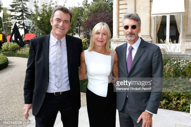 Frank Viau de Caumettes Head of retail banking and insurance at La Banque Postale Catherine Charrier Leflaive and CEO of BNP Paribas in the United...