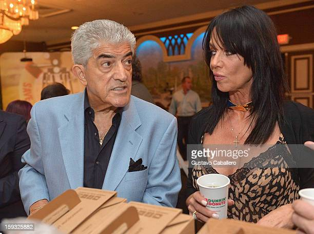 Frank Vincent and Melissa Prophet attend the Save Our Cinemas event at The Castle on January 11 2013 in Miami Beach Florida