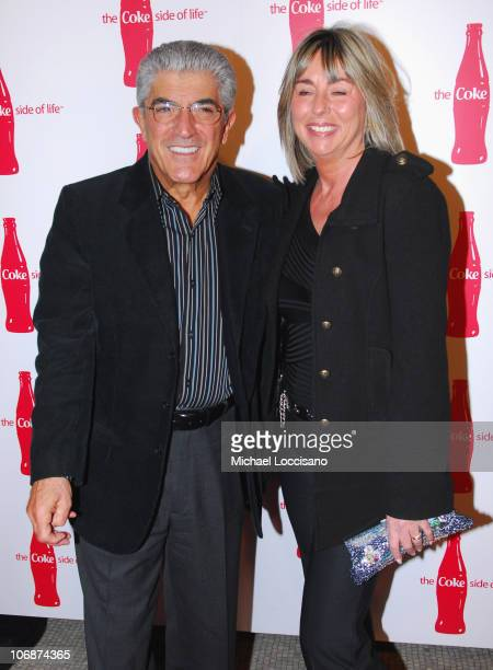 Frank Vincent and Wife Katherine Vincent during CocaCola's Coke Side Of Life Launch Party with a Performance by NeYo March 30 2006 at Capitale in New...