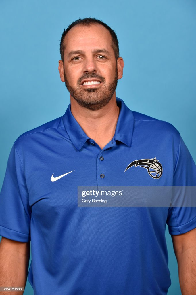 Frank Vogel of the Orlando Magic poses for a head shot during media day on September 25, 2017 at Amway Center in Orlando, Florida.