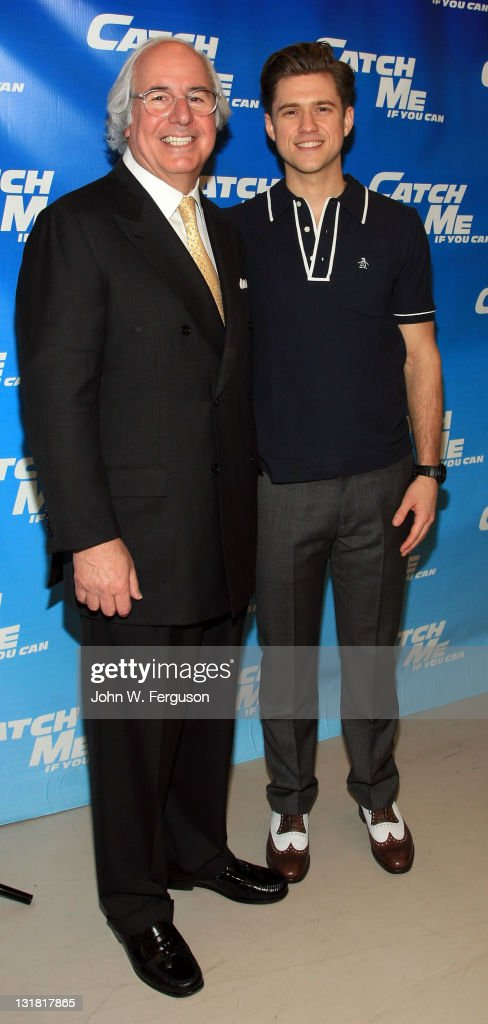 frank w abagnale and actor aaron tveit attend the catch me if you