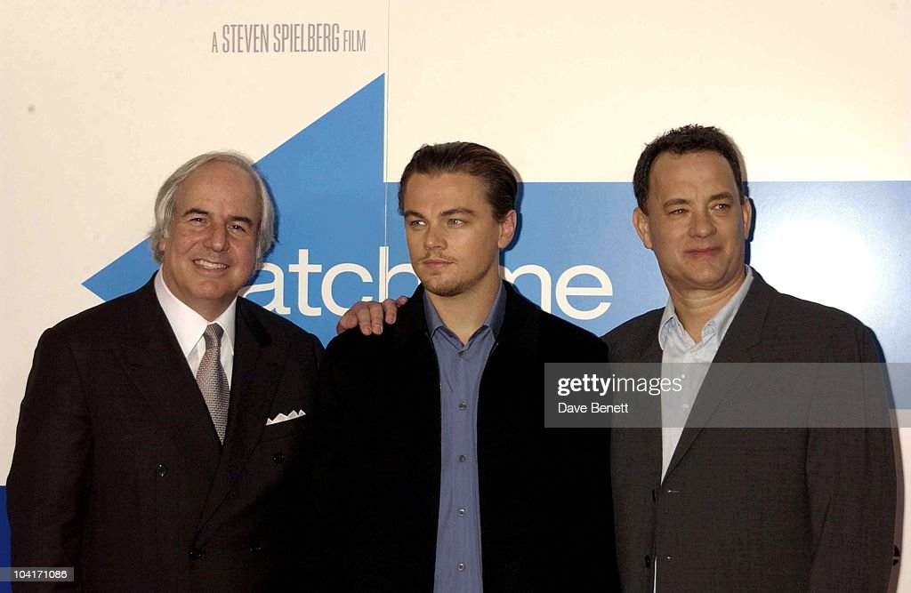 Frank W Abagnale (character On Whom The Film Is Based) ,leonardo Di Caprio & Tom Hanks, Press Conferenc For 'Catch Me If You Can', Ahead Of The London Premiere, Dorchester Hotel.