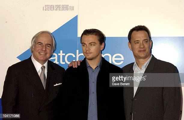 Frank W Abagnale leonardo Di Caprio Tom Hanks Press Conferenc For Catch Me If You Can Ahead Of The London Premiere Dorchester Hotel