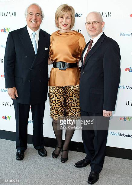 Frank W Abagnale Valerie Salembier and Alan Marks attend Harper's Bazaar Annual Anticounterfeiting Summit at Hearst Tower on April 26 2011 in New...