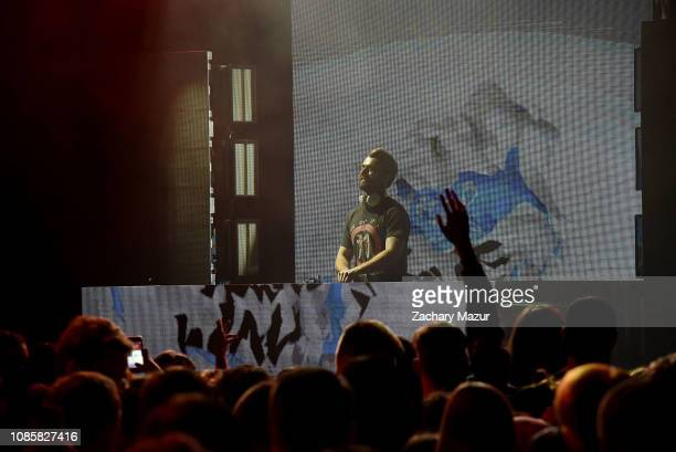 Frank Walker performs during the With My Homies Tour at Irving Plaza on January 19, 2019 in New York City.