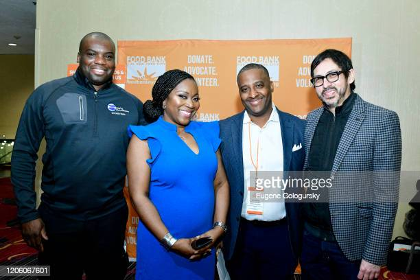 Frank Walrond Margarette Purvis Andre Thompson and Javier Ramirez Baron attend the 29th Annual Conference on hunger and poverty hosted by the Food...