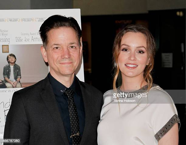 Frank Whaley and Leighton Meester attend the Los Angeles opening of 'Like Sunday Like Rain' at Laemmle's Town Center 5 on March 18 2015 in Encino...