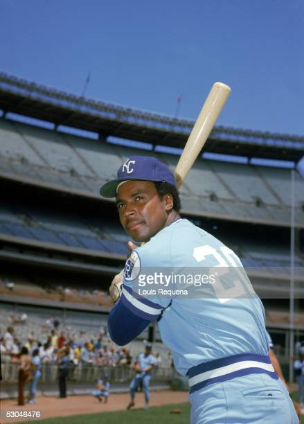 Frank White of the Kansas City Royals poses before a game at Yankee Stadium in the Bronx, New York. Frank White played for the Kansas City Royals...