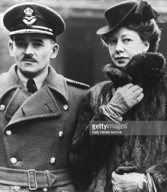Frank Whittle inventor of the jet engine 15 February 1944 Frank Whittle British inventor 'Group Captain Whittle and his wife at Buckingham Palace...