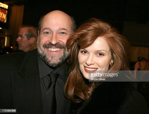 Frank Wildhorn and Pamela Jordan during Dirty Rotten Scoundrels Broadway Opening Night at The Imperial Theater in New York City New York United States