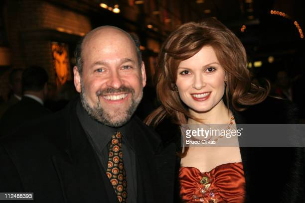 Frank Wildhorn and Pamela Jordan during Monty Python's Spamalot Opening Night on Broadway Arrivals at The Shubert Theater in New York City New York...