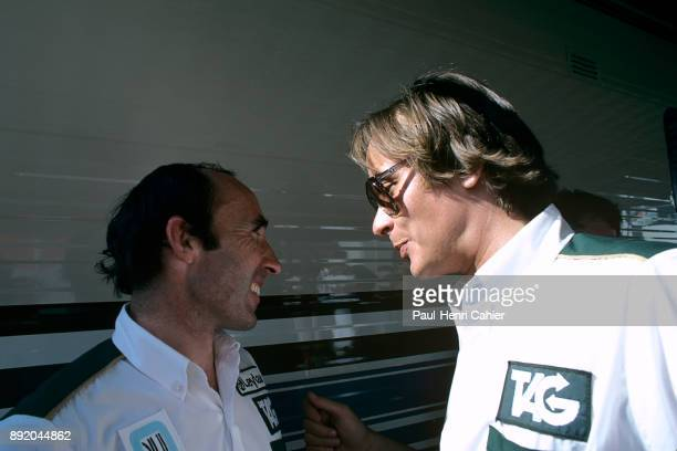 Frank Williams Mansour Ojjeh Grand Prix of Canada Circuit Gilles Villeneuve 28 September 1980 Frank Williams and TAG president Mansour Ojjeh