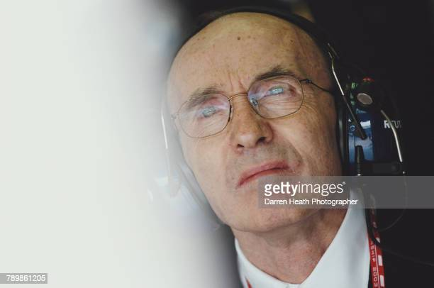 Frank Williams team principal for Williams Grand Prix Engineering Limited and the BMW Williams F1 Team during the Formula One San Marino Grand Prix...