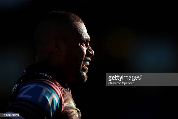 Frank Winterstein of the Sea Eagles looks on during the round 22 NRL match between the Manly Warringah Sea Eagles and the Sydney Roosters at...