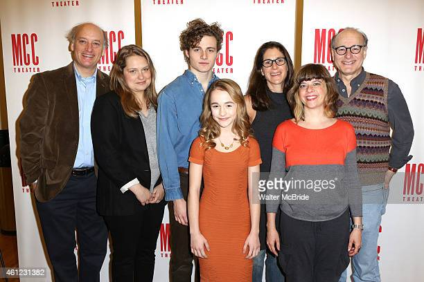 Frank Wood Merritt Wever Ben Rosenfield Sophia Anne Caruso director Anne Kaufman playwright Jennifer Haley and Peter Friedman attend the MeetNGreet...