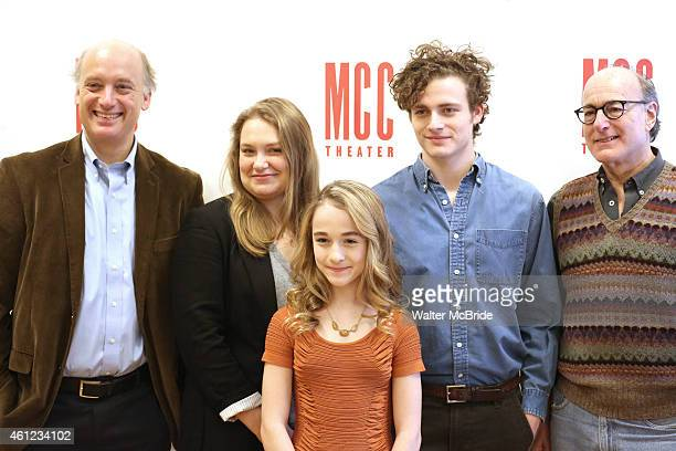 Frank Wood Merritt Wever Sophia Anne Caruso Ben Rosenfield and Peter Friedman attend the MeetNGreet for the MCC Theater production of 'The Nether' at...