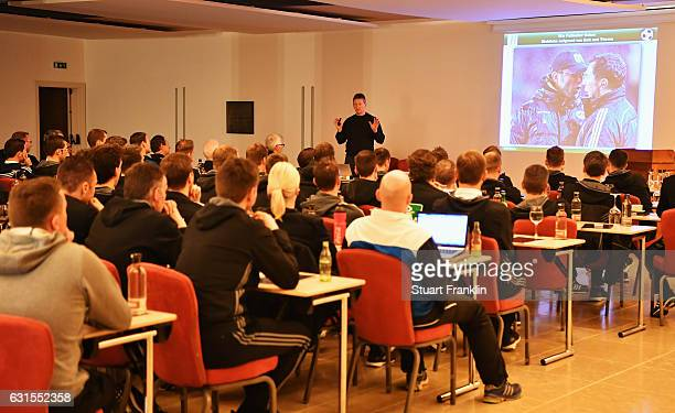 Frank Wormuth addresses the referees during the DFB Referee training course at the Hilton hotel on January 12 2017 in Palma de Mallorca Spain