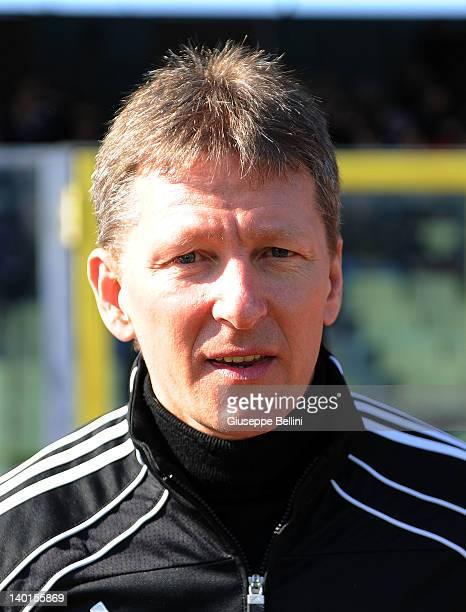 Frank Wormuth head coach of U20 Germany during U20 Italy v U20 Germany International Friendly match on February 29 2012 in Foggia Italy