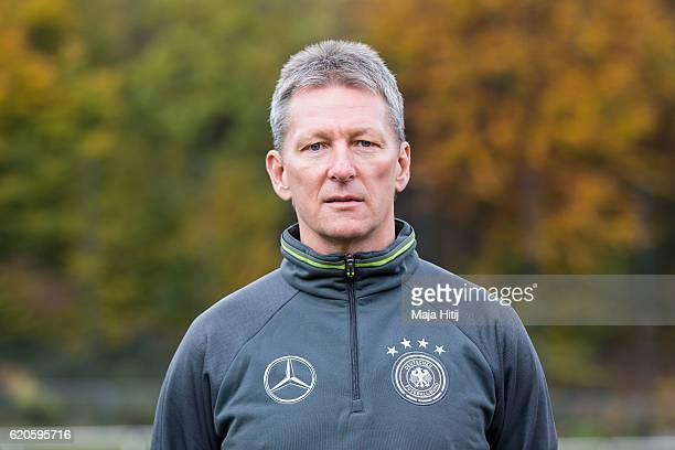 Frank Wormuth poses during DFB Pro Licence Coaching Course on November 2 2016 in Hennef Germany
