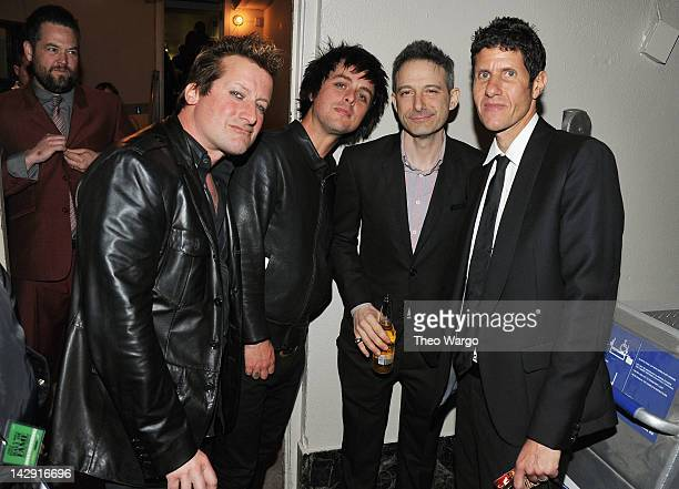 Frank Wright AKA Tre Cool of Green Day Billie Joe Armstrong of Green Day Adam Horovitz AKA ADROCK of the Beastie Boys and Michael Diamond 'Mike D' of...