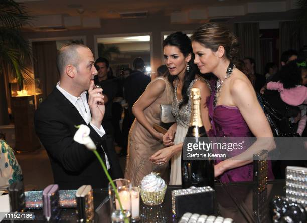 Frank Zambrelli of LEIBER Luxury Brand Actress Angie Harmon and Actress Michelle Monaghan attend the LEIBER 45TH Anniversary Celebration with...