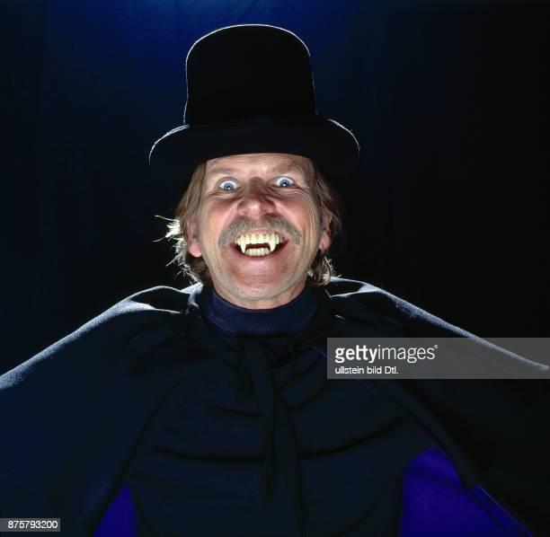 Frank Zander Fotosession zur LPProduktion Dracula ist wieder da