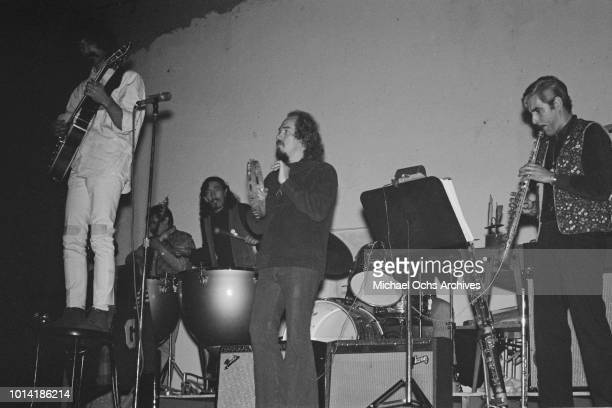 Frank Zappa and Ray Collins perform with the Mothers of Invention at the Electric Circus in New York City circa 1966