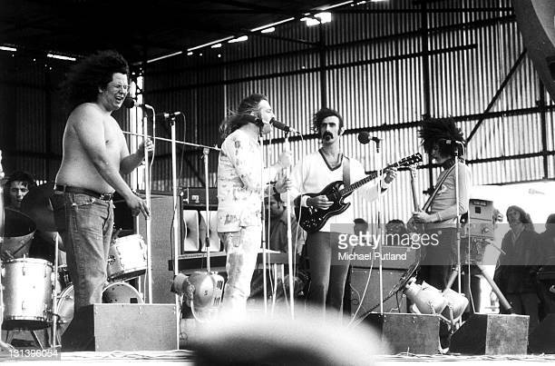 Frank Zappa and the Mothers of Invention perform on stage with Flo and Eddie at the Bath Festival 28th June 1970