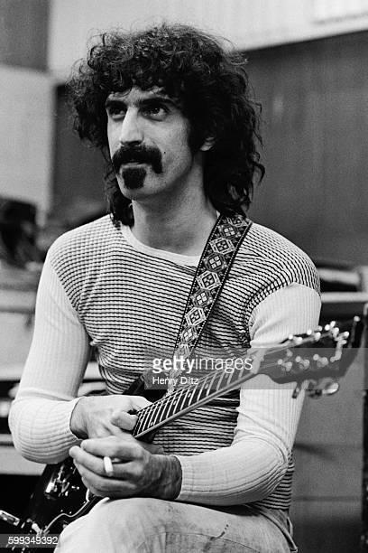 Frank Zappa Holding Guitar
