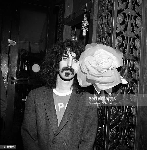 Frank Zappa of the rock group 'Frank Zappa And The Mothers Of Invention'poses for a portrait at the Garrick Theatre upstairs from the Cafe Au Go Go...