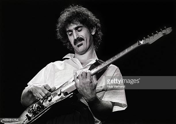 Frank Zappa performs on stage at Ahoy on 15th May 1982 in Rotterdam Netherlands