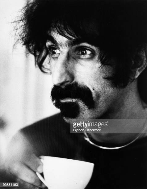 Frank Zappa posed with a cup of tea in Amsterdam Netherlands on September 17 1972