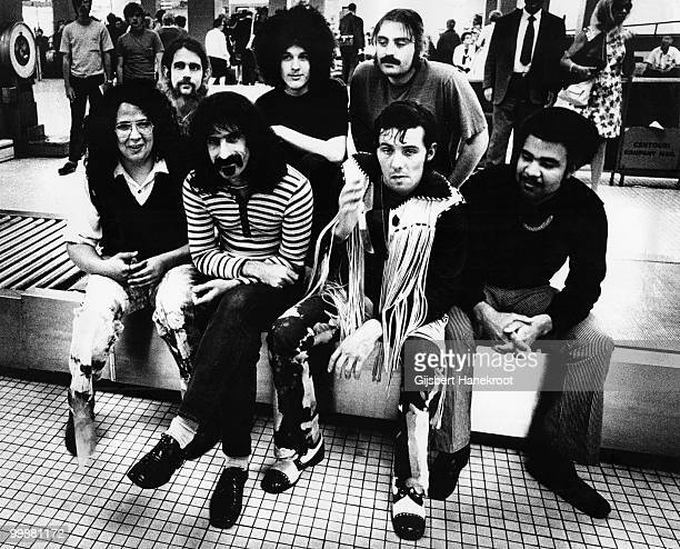 Frank Zappa posed with the Mothers of Invention in Rotterdam Netherlands on November 27 1971